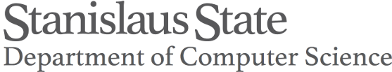 Image, site banner. CSU STANISLAUS DEPARTMENT OF COMPUTER SCIENCE